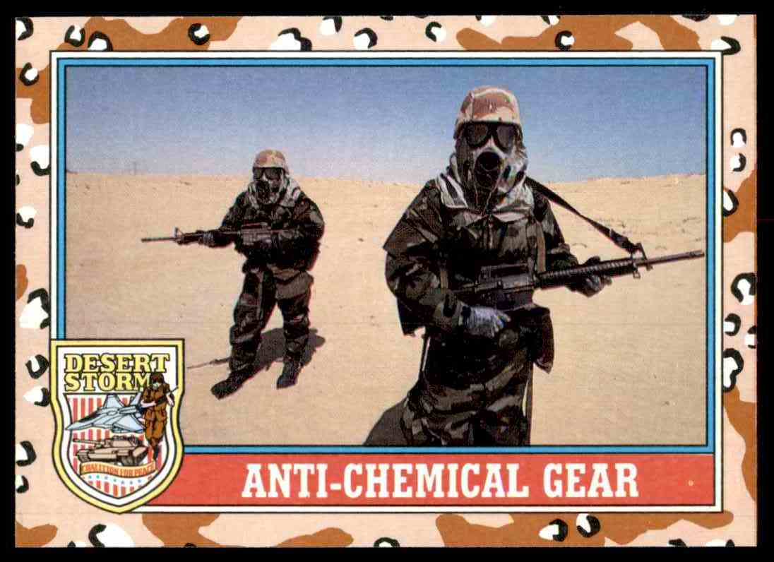 1991 Desert Storm Topps Anti-Chemical Gear #171 card front image
