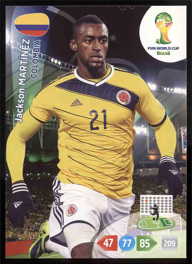 597046fd271 2014 Panini Adrenalyn Xl Fifa World Cup Brazil Jackson Martinez  85 card  front image