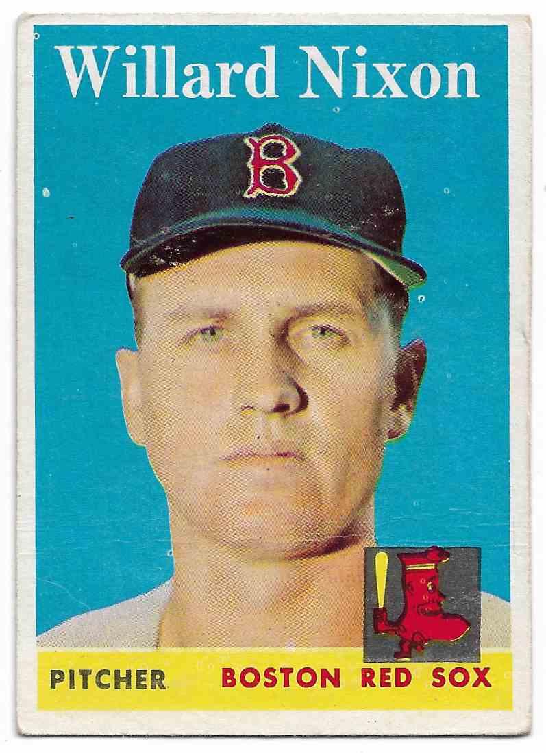 1958 Topps Willard Nixon #395 card front image