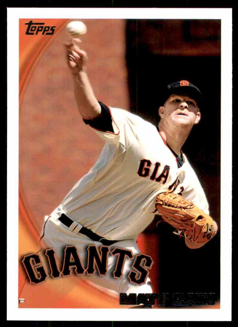 2010 Topps Matt Cain #531 card front image
