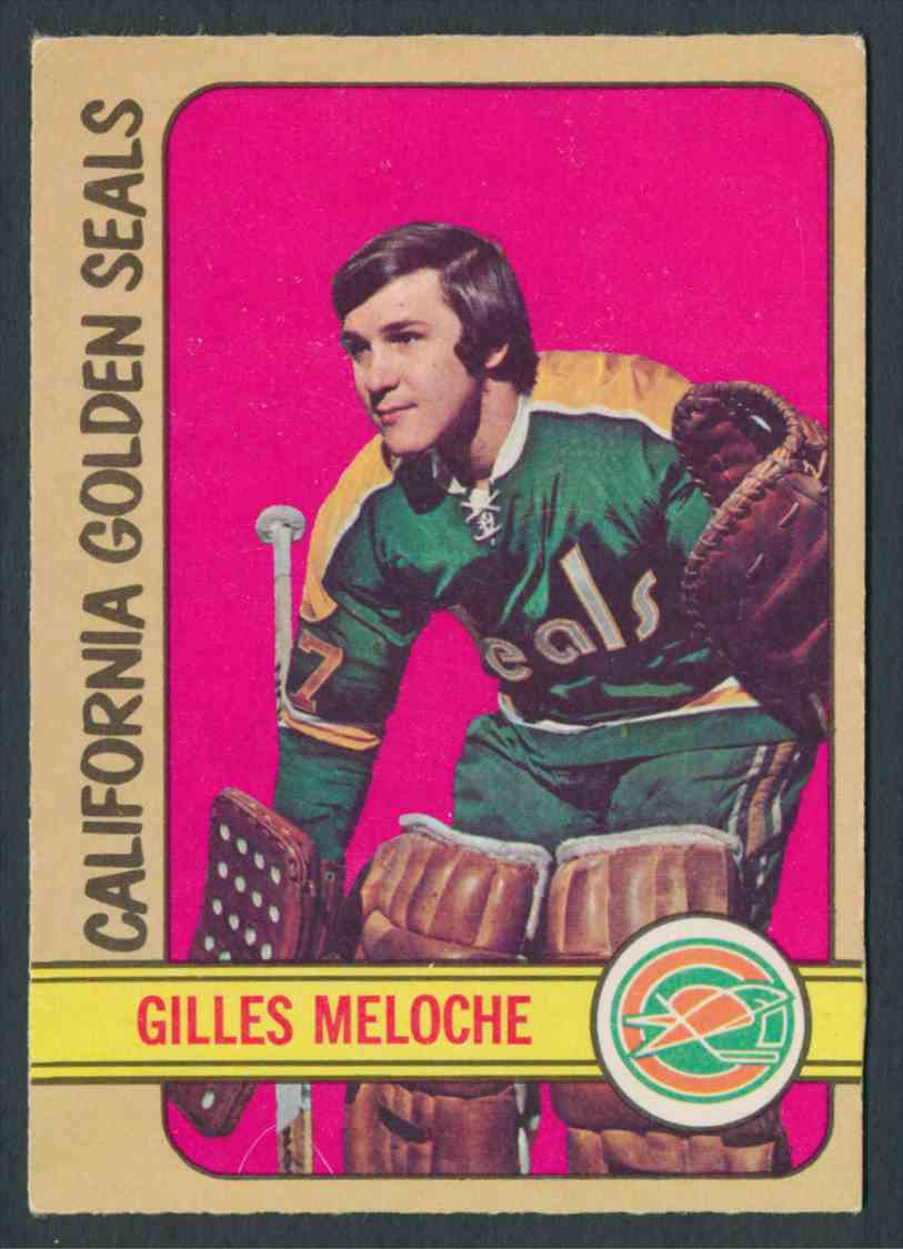 1972-73 O-Pee-Chee Gilles Meloche #112 card front image
