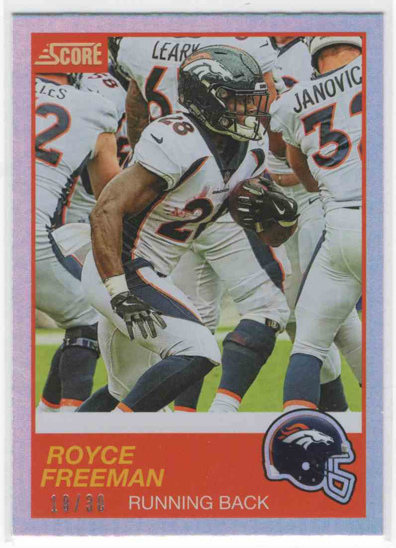 2019 Panini Score Royce Freeman #16 card front image