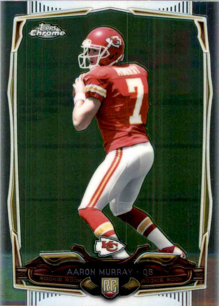 2014 Topps Chrome Aaron Murray RC #129 card front image