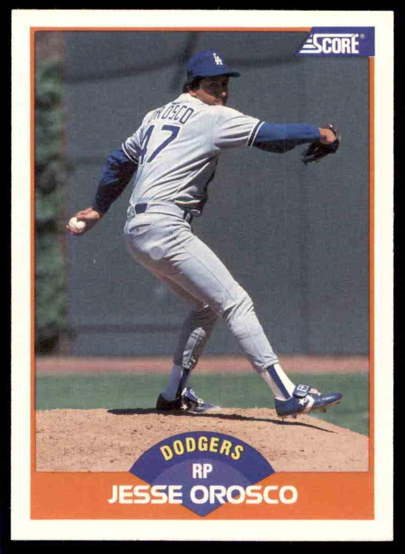 1989 Score Regular Jesse Orosco #356 card front image