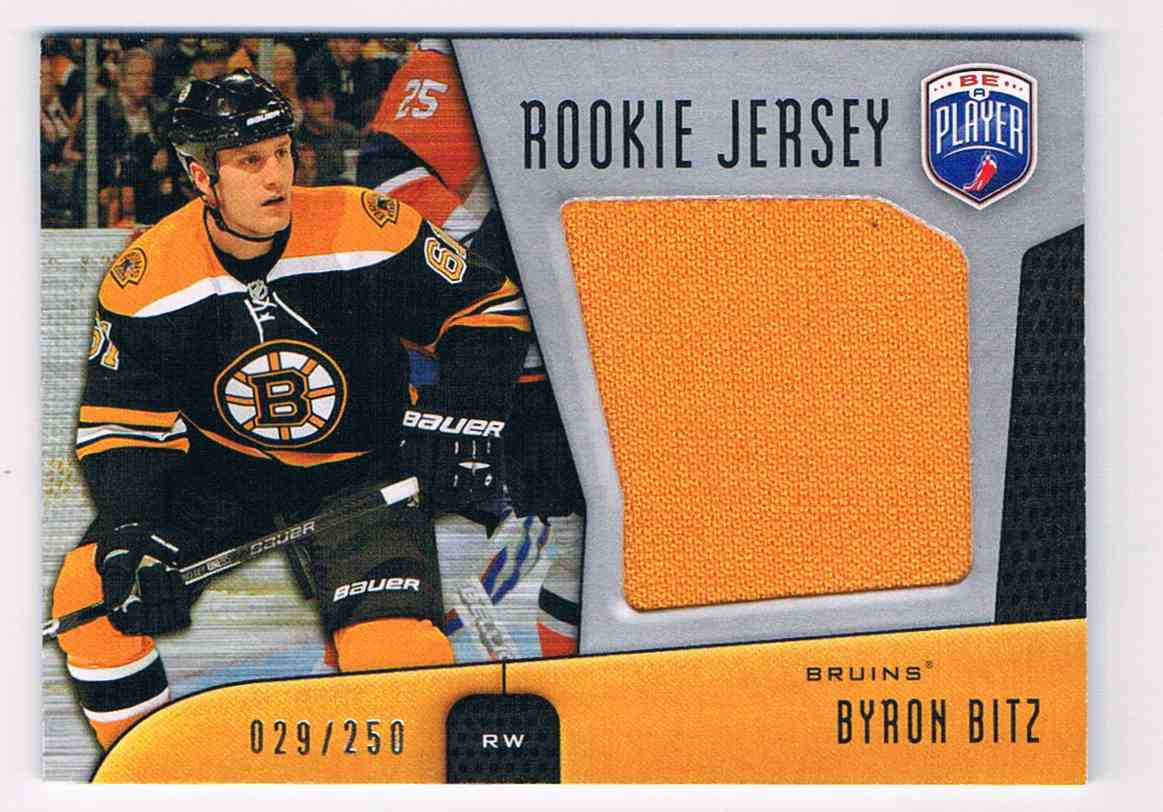 2009-10 Upper Deck Be A Player Rookie Jersey Byron Bitz #RJ-BB card front image