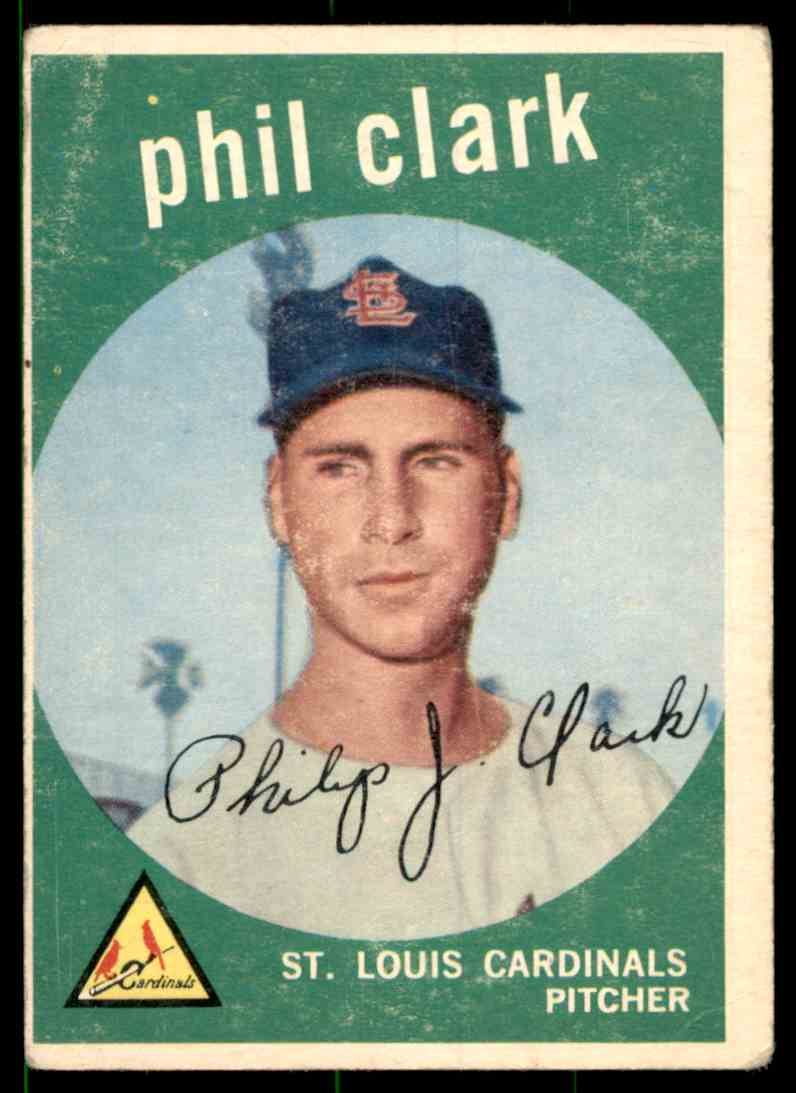 1959 Topps Phil Clark #454 card front image