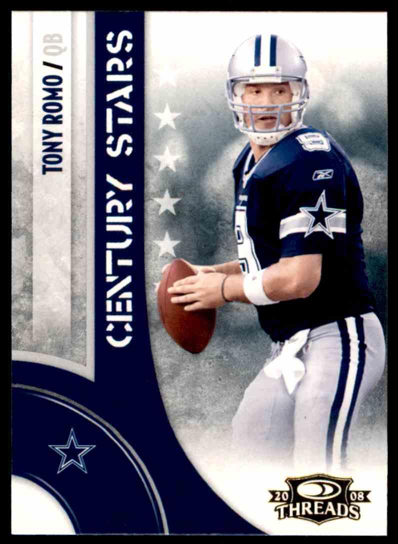 2008 Donruss Threads Century Stars Tony Romo #CS-15 card front image
