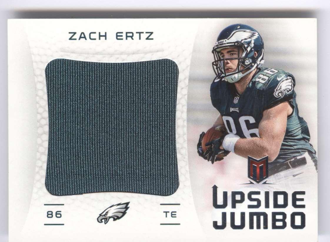 2013 Panini Momentum Upside Jumbo Relics Zach Ertz #23 card front image