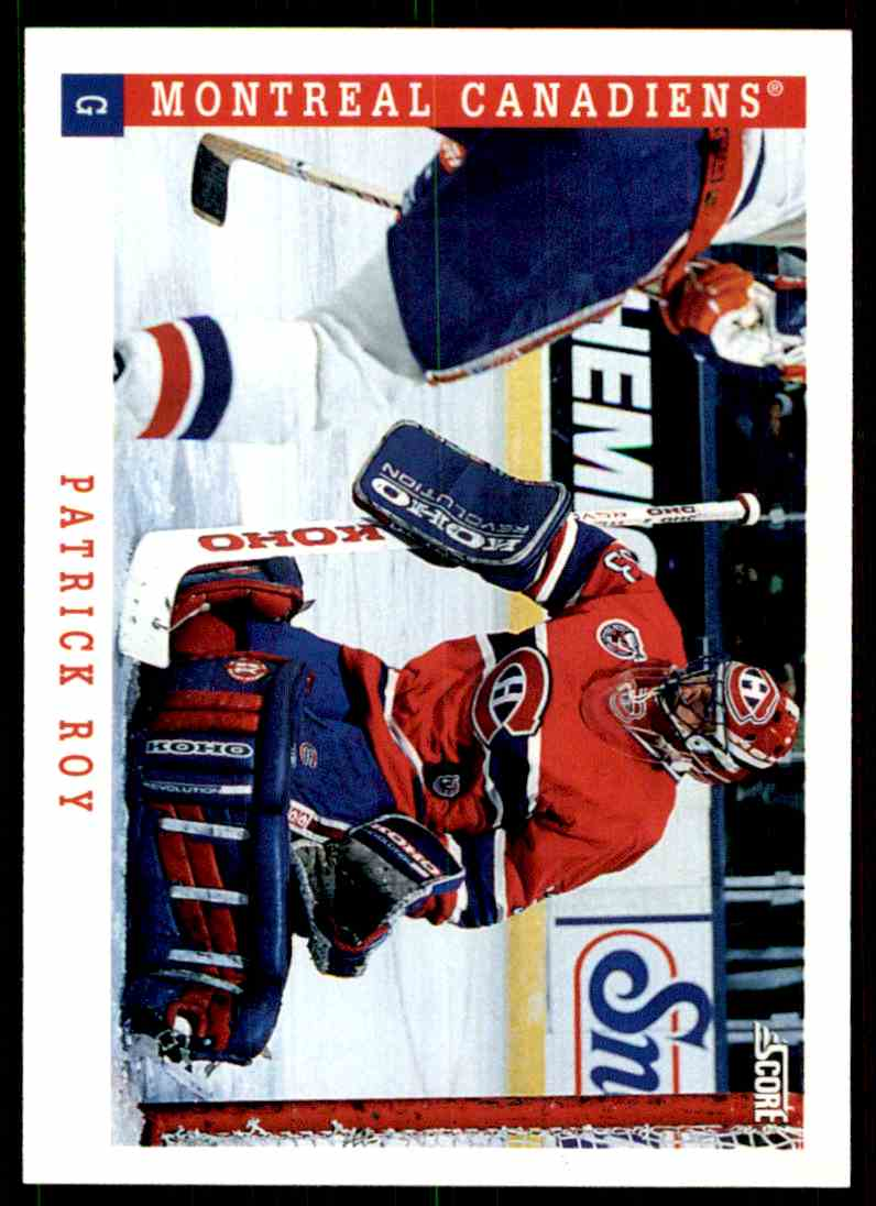 1993-94 Score Patrick Roy #315 card front image