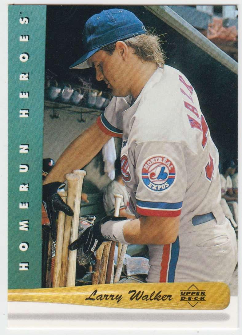 1993 Upper Deck Home Run Heroes Larry Walker #HR16 card front image