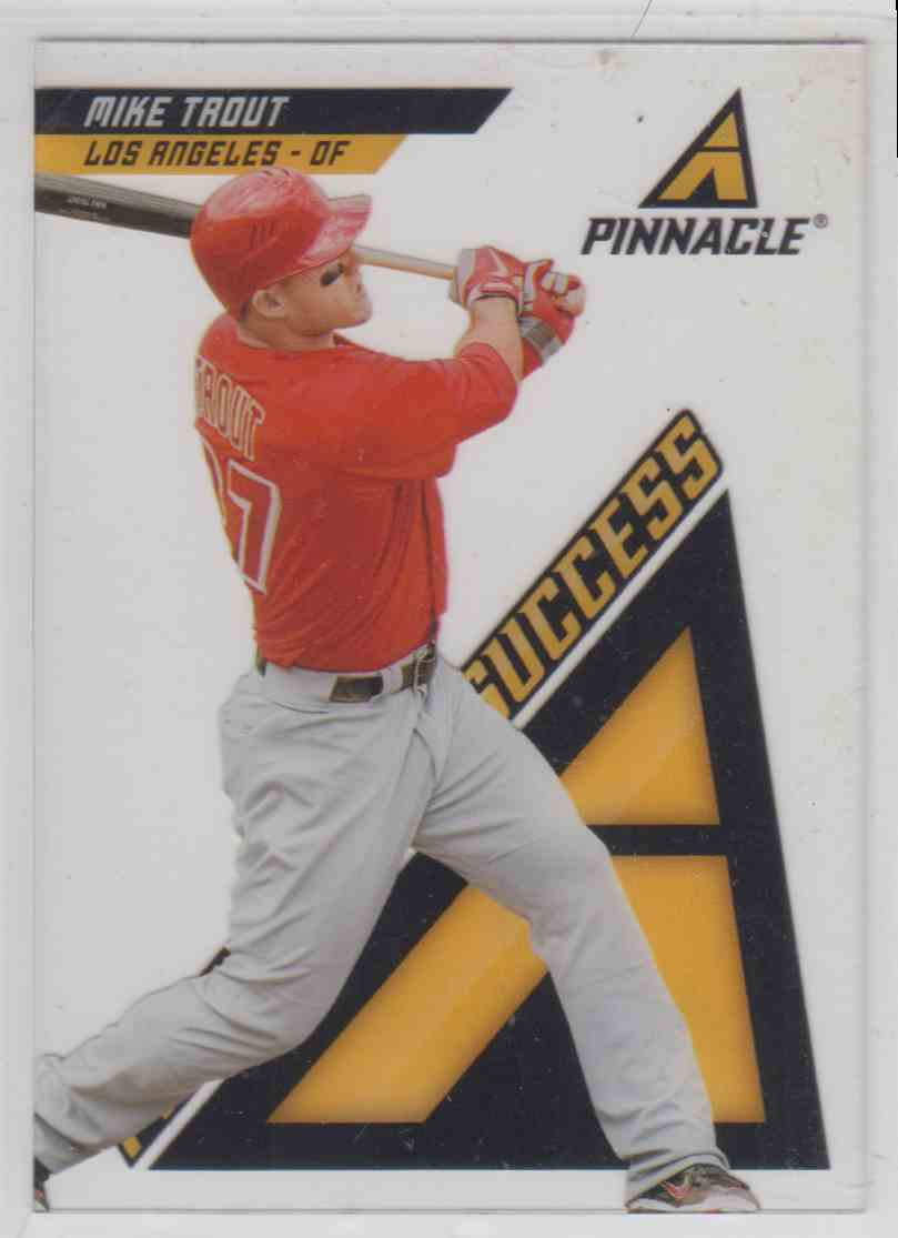 2013 Pinnacle Pinnacle Of Success Mike Trout #PS3 card front image