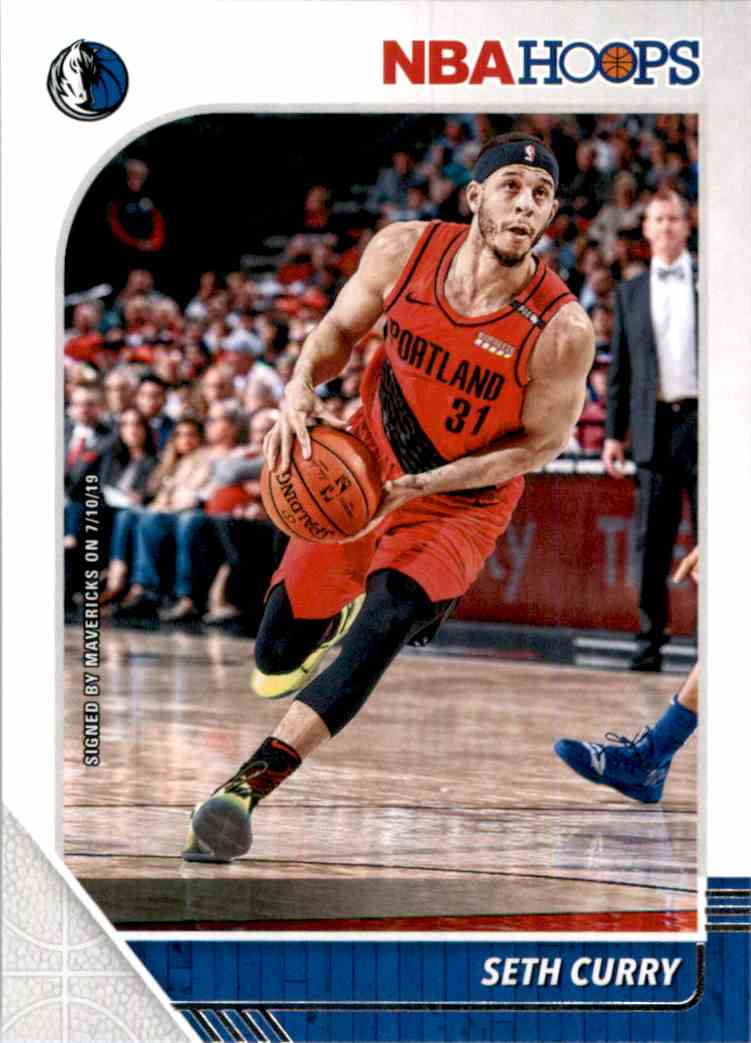 2019-20 Hoops Seth Curry #160 card front image