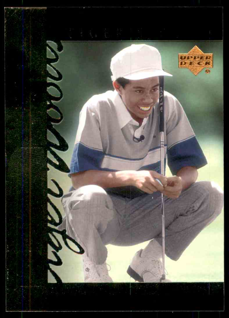 2001 Upper Deck Tiger's Tales Tiger Woods #TT3 card front image