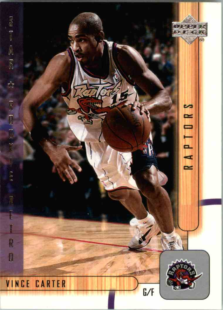2002-03 Upper Deck Star Rookie Retro Vince Carter #448 card front image