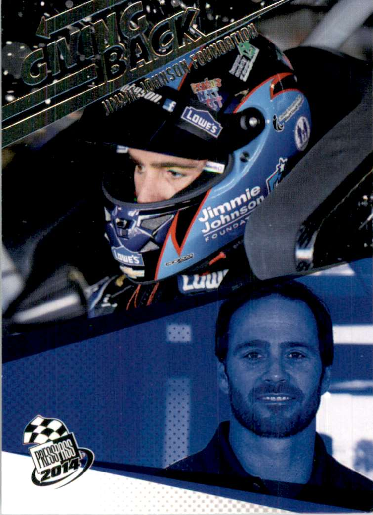 2014 Press Pass Jimmie Johnson Gb #76 card front image