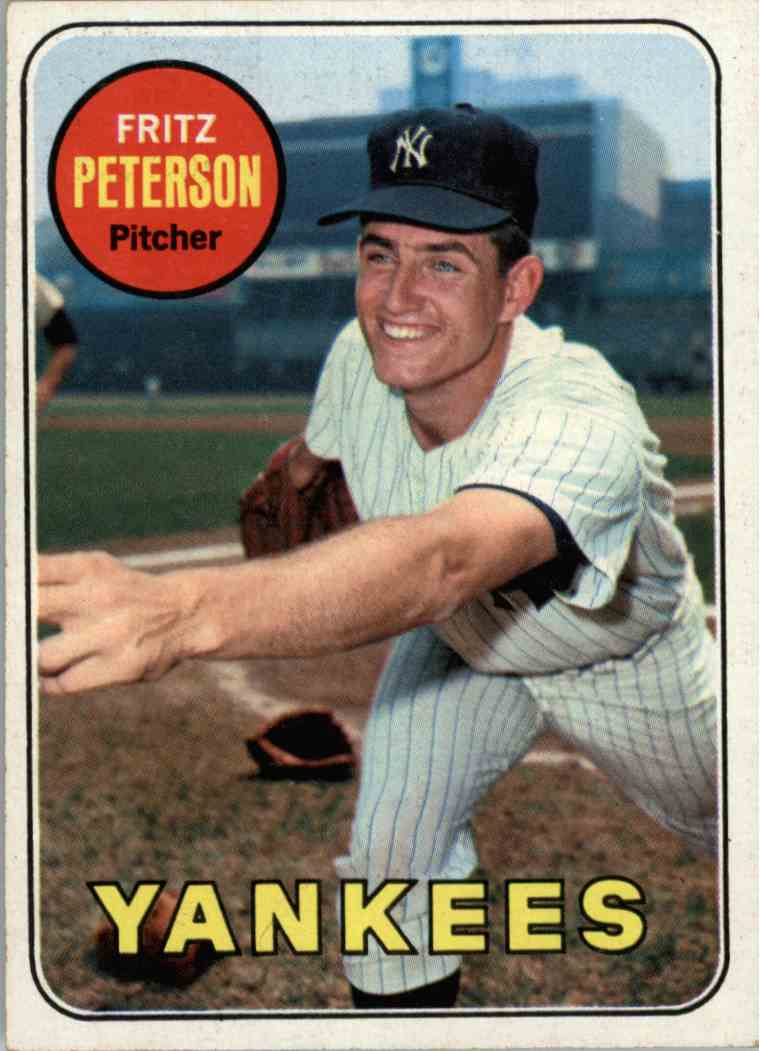 1969 Topps Fritz Peterson #46 card front image
