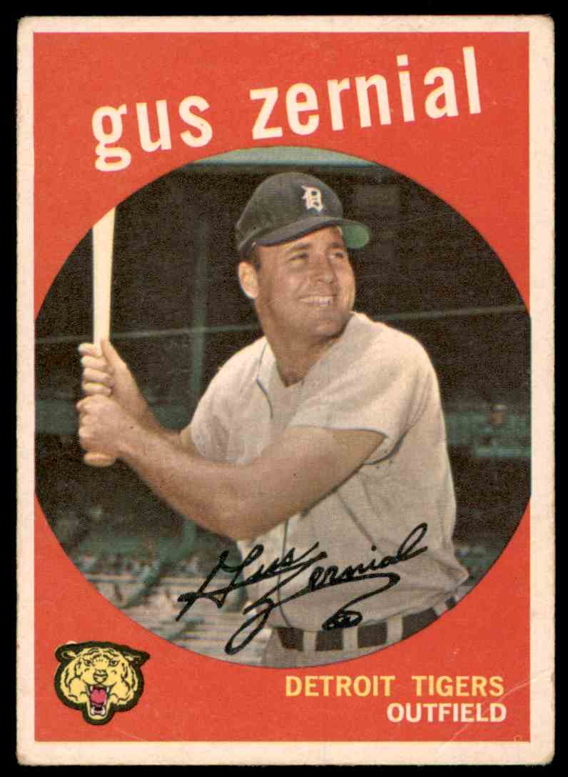 1959 Topps Gus Zernial #409 card front image