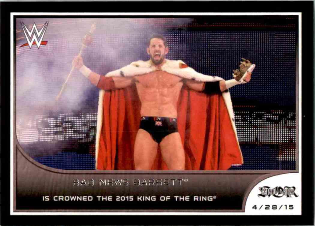 2016 Topps Wwe Road To WrestleMania Bad News Barrett Is