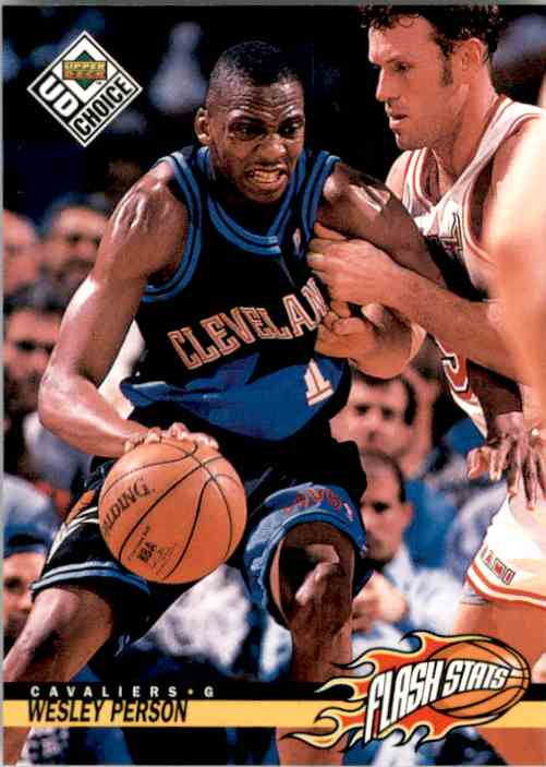 1998-99 UD Choice Wesley Person Fs #160 card front image