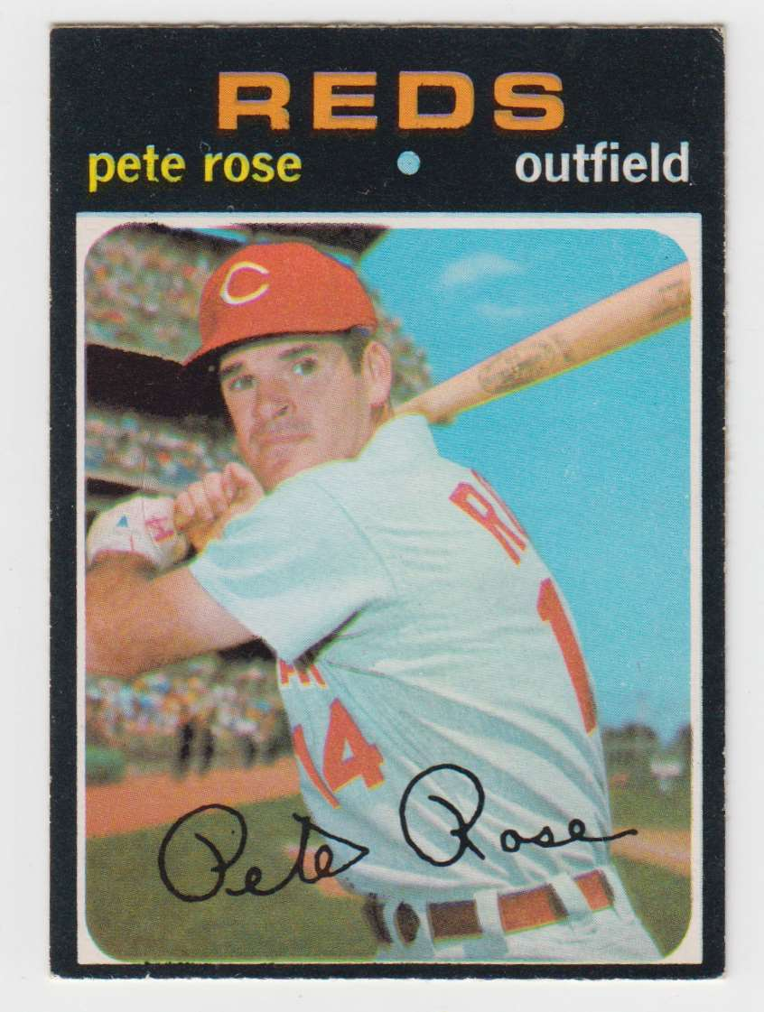 1971 O-Pee-Chee Pete Rose #100 card front image