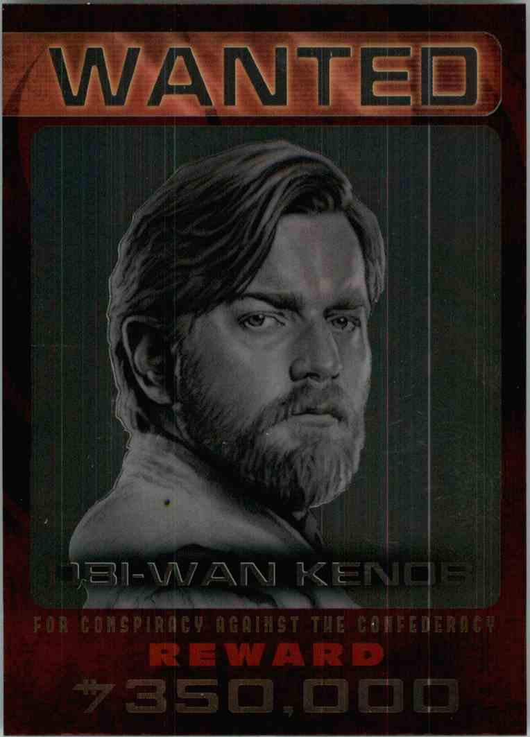 2015 Topps Chrome Star Wars Wanted Ubi-Wan Kenob #2 card front image