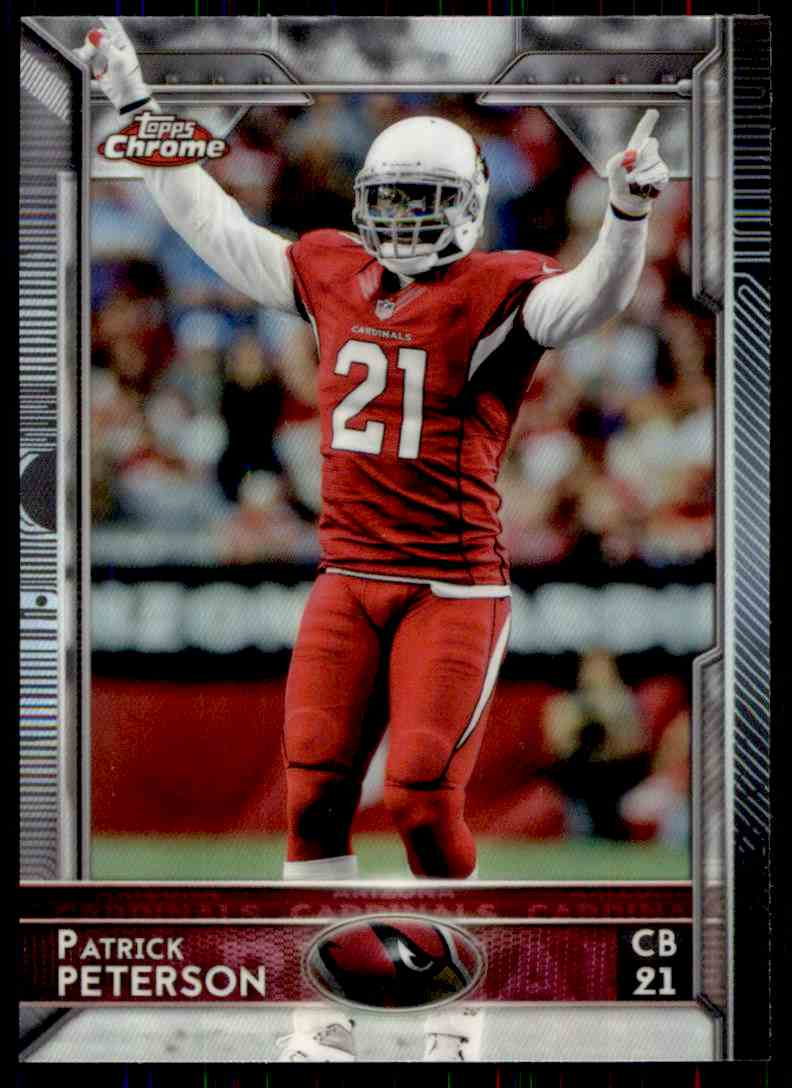 2015 Topps Chrome Refractor Patrick Peterson #35 card front image