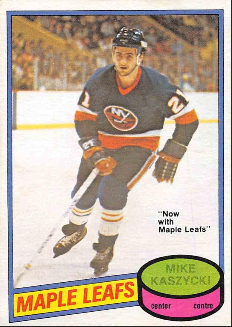 1980-81 O-Pee-Chee Mike Kaszycki #371 card front image