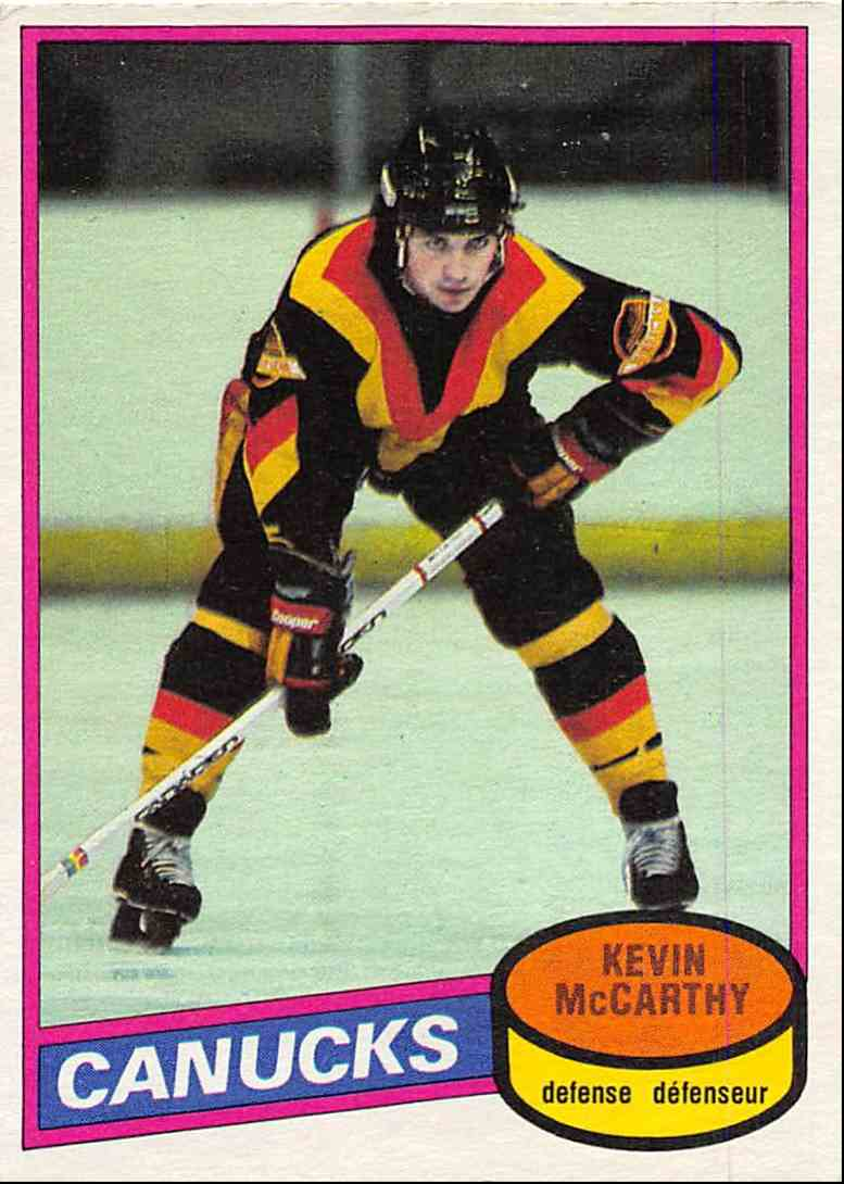 1980-81 O-Pee-Chee Kevin McCarthy #21 card front image