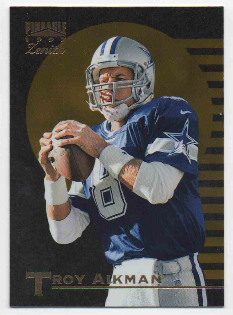 1997 Zenith Troy Aikman #19 card front image