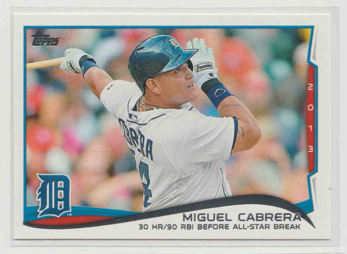 2014 Topps Miguel Cabrera #149 card front image