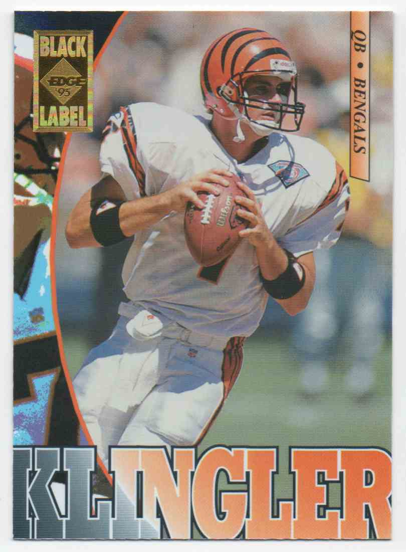 1995 Collectors Edge Black Label David Klingler #39 card front image