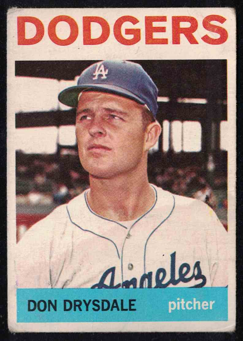 1964 Topps Don Drysdale VG #120 card front image