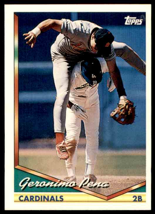 1994 Topps Geronimo Pena #444 card front image