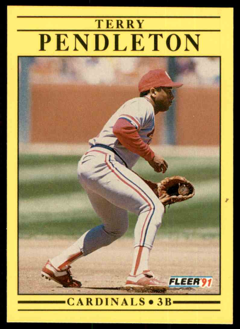 1991 Fleer Terry Pendleton #642 card front image