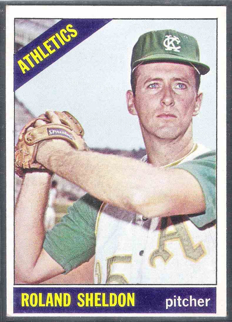 1966 Topps Roland Sheldon Nm #18 card front image