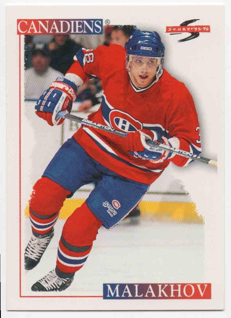 1995-96 Score Vladimir Malakhov #117 card front image