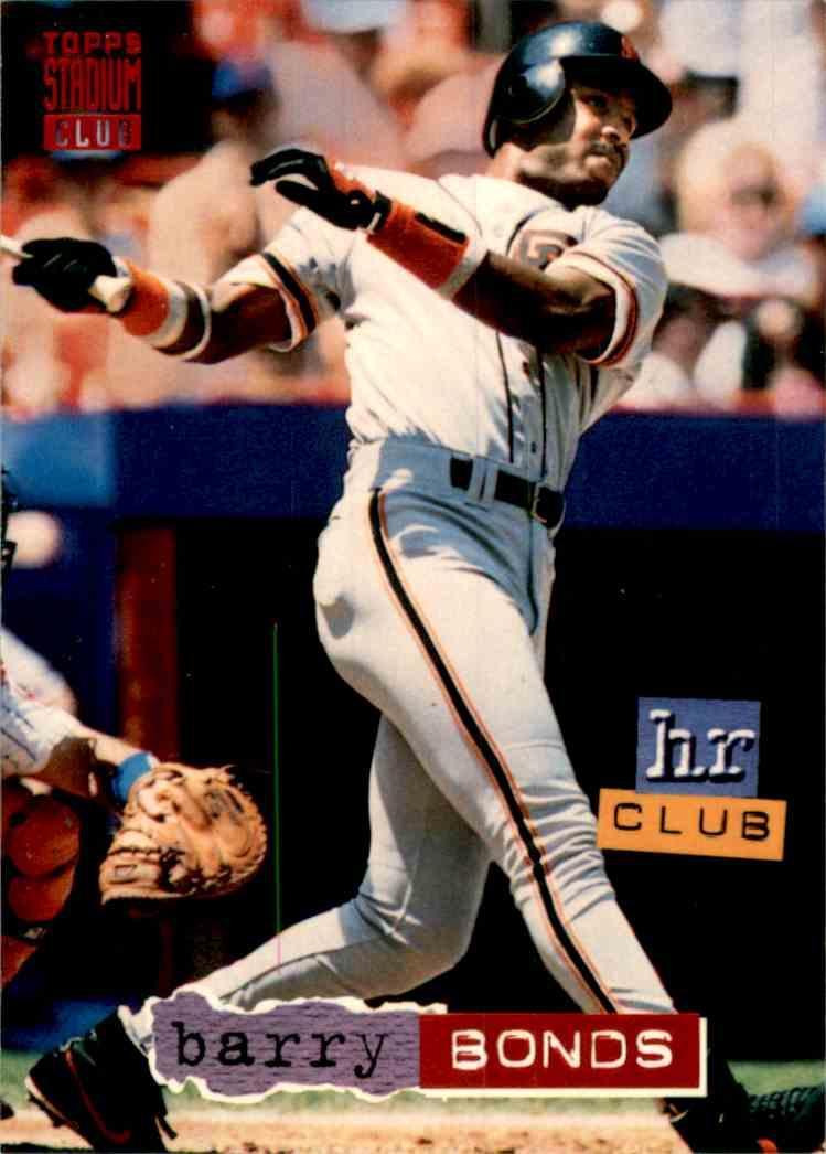 1994 Stadium Club Barry Bonds Hr #259 card front image