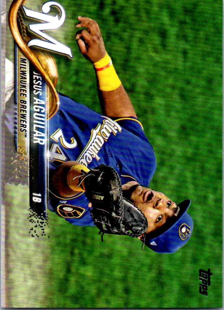2018 Topps Series 2 Jesus Aguilar #442 card front image