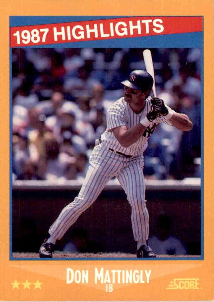 1988 Score Don Mattingly 658 Of 660 On Kronozio