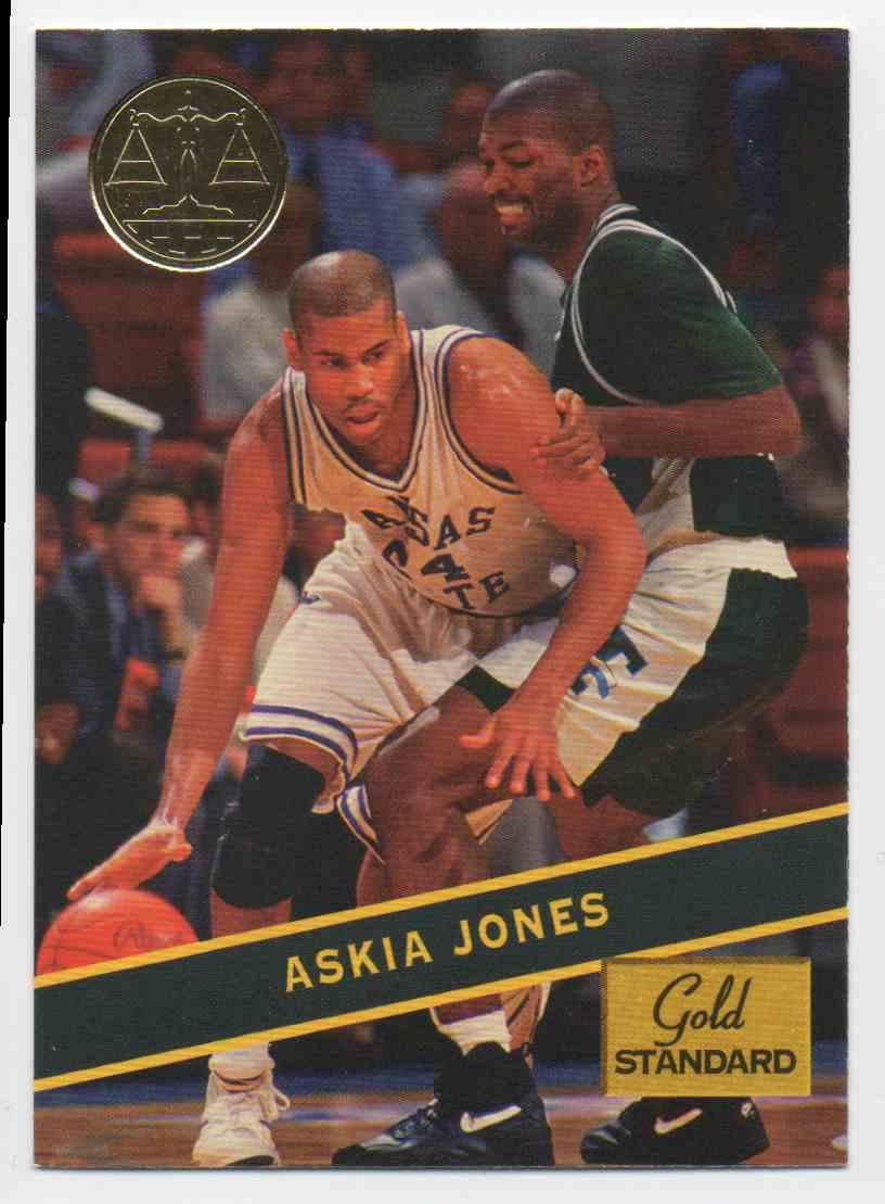 1994-95 Signature Rookies Gold Standard Askia Jones #8 card front image