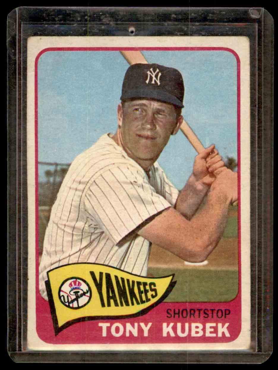 1965 Topps Tony Kubek #65 card front image