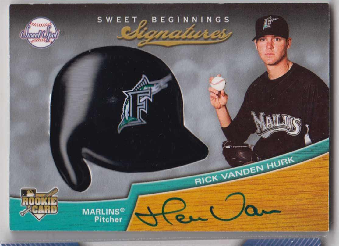 2007 Upper Deck Sweet Spot Rick Vanden Hurk #136 card front image