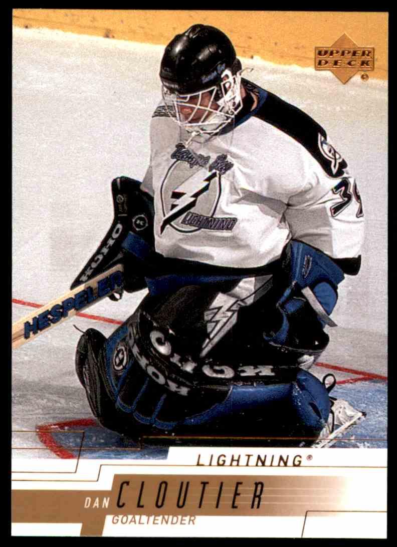 2000-01 Upper Deck Dan Cloutier #159 card front image