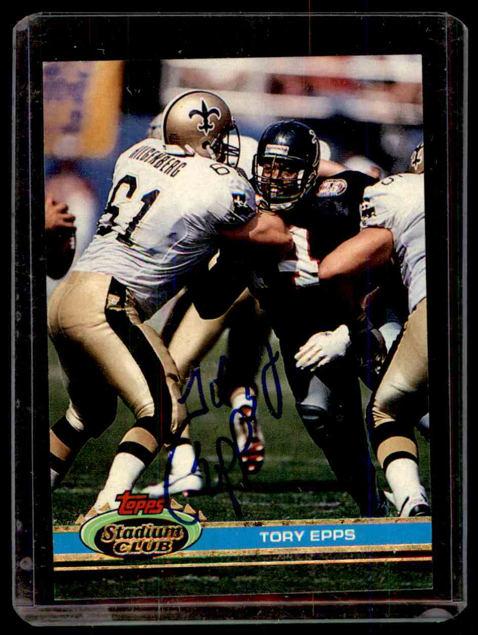 1991 Stadium Club Autograph Tory Epps #286 card front image