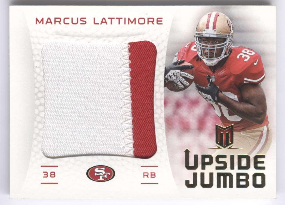 2013 Panini Momentum Upside Jumbo Relics Prime Marcus Lattimore #29 card front image