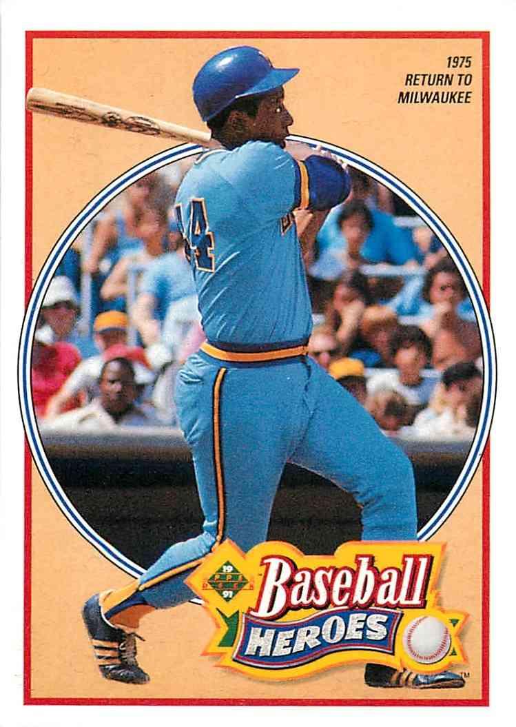 1992 Upper Deck Baseball Heroes Hank Aaron 24 Of 27 On Kronozio