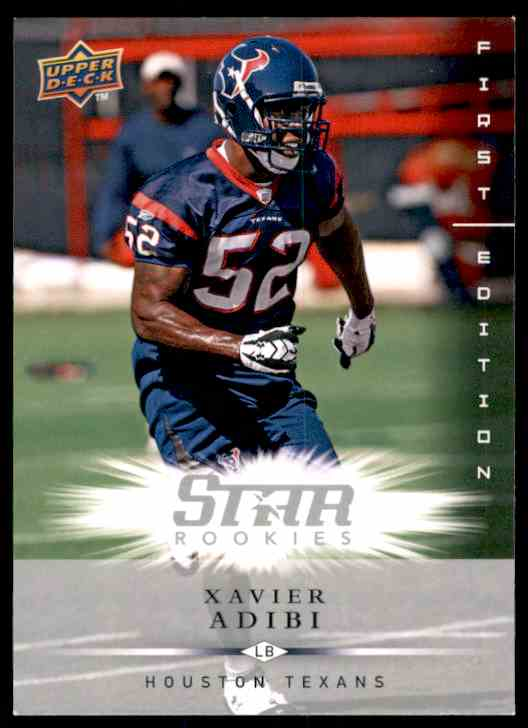 2008 Upper Deck First Edition Xavier Adibi RC #200 card front image
