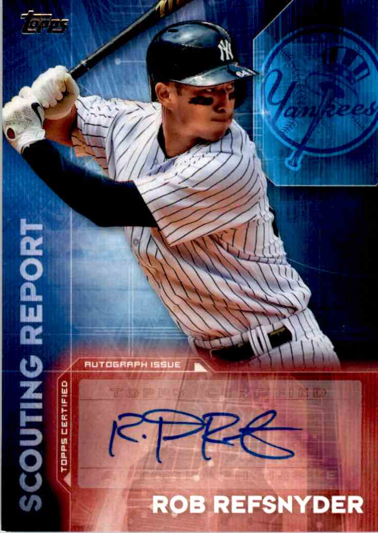 2015 Topps Rob Refsnyder card front image
