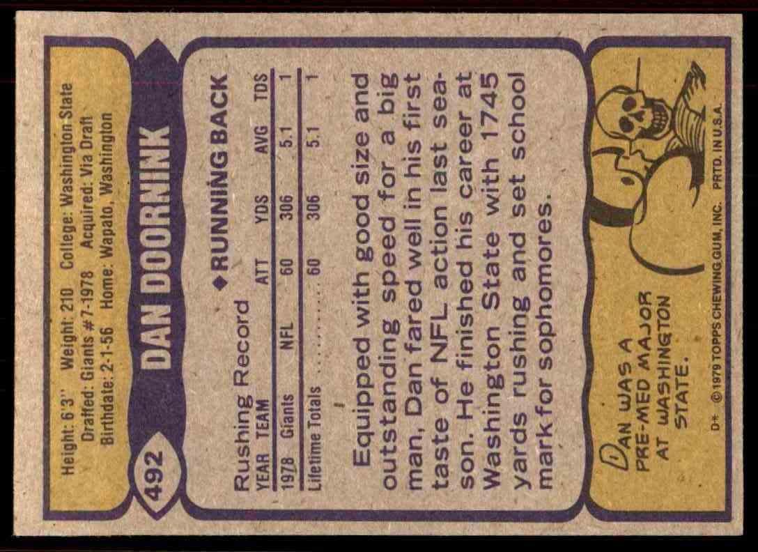1979 Topps Dan Doornink #492 on Kronozio