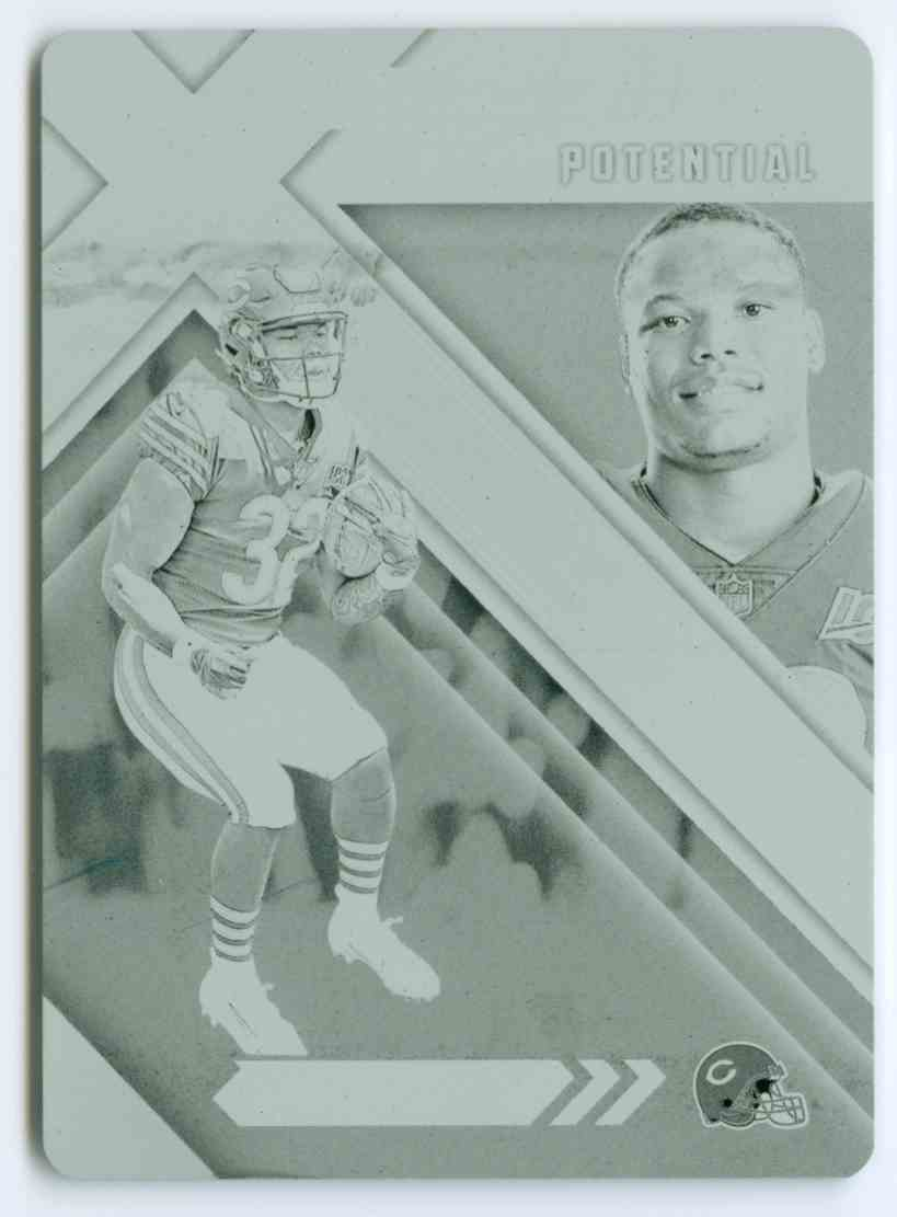 2019 Panini Xr X-Ponential Printing Plate Black David Montgomery #XPP-17 card front image
